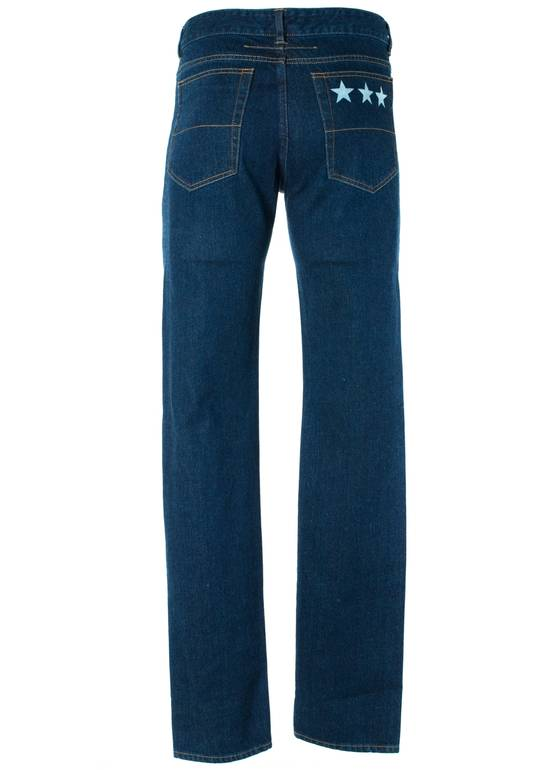 Givenchy Givenchy Men's Medium Blue W/ Star Accent Denim Jeans Size US 31 - 1