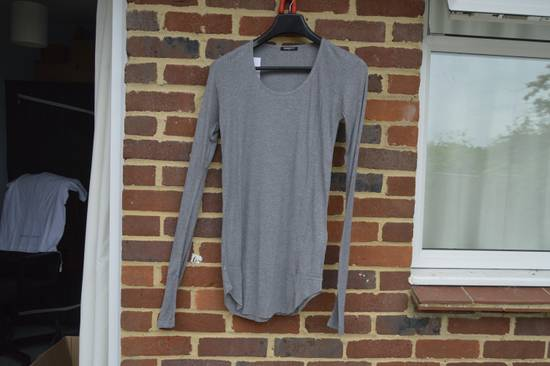 Balmain Grey Ribbed Long Sleeve T-shirt Size US M / EU 48-50 / 2