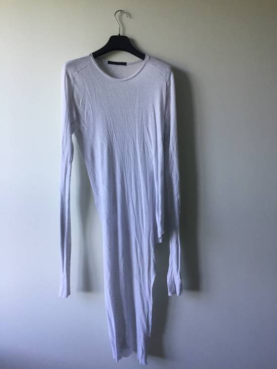 Julius Elongated White Ribbed Longsleeve Size US S / EU 44-46 / 1