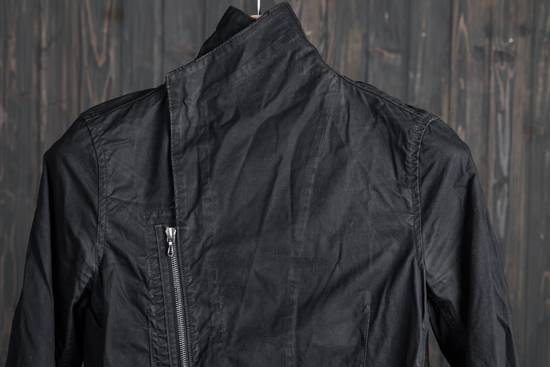 Julius high neck asymmetric zip waxed denim jacket Size US S / EU 44-46 / 1 - 3