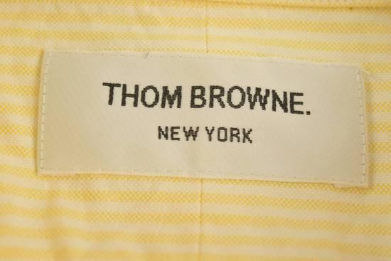 Thom Browne White Grossgrain, Yellow Stripe Oxford Size US L / EU 52-54 / 3 - 4
