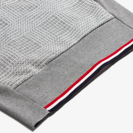 Thom Browne GRAY PRINTED FRENCH TERRY KNIT ZIP-UP HOODIE Size US S / EU 44-46 / 1 - 4
