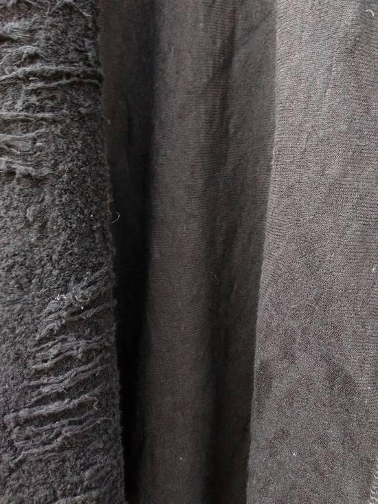 Julius Black Hooded Cotton Wool Jacquard Cardigan Size US M / EU 48-50 / 2 - 3