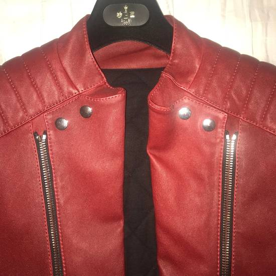 Balmain Leather Biker Jacket Size US M / EU 48-50 / 2 - 2