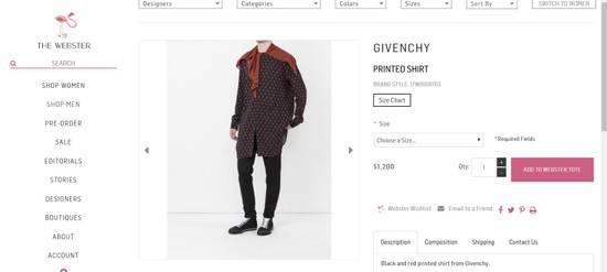 Givenchy Printed scarf shirt Size US M / EU 48-50 / 2 - 2