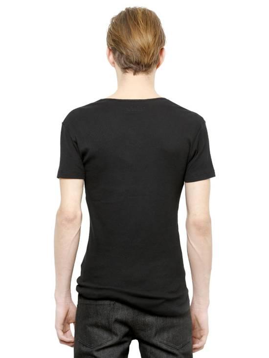 Balmain Black Ribbed Knit T-shirt Size US XS / EU 42 / 0 - 3