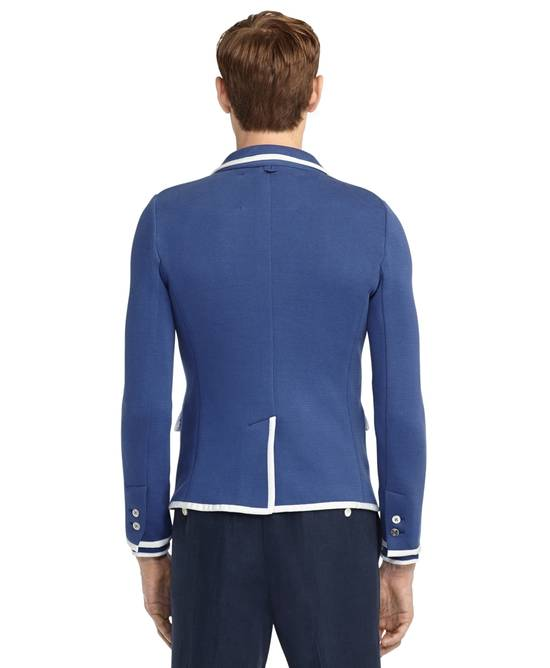 Thom Browne Bright Blue Knit Blazer Size 44R - 1