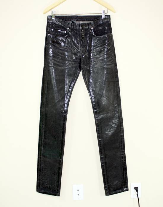 Dior Dior Homme FW04 Black Waxed 19cm Denim Jeans Size US 29 - 2