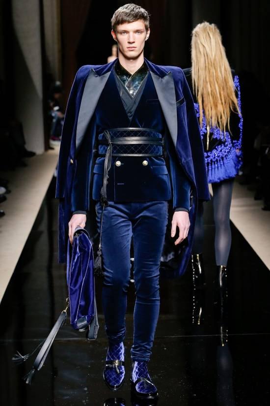 Balmain Balmain Blue Velvet Blazer Size 46R - 6