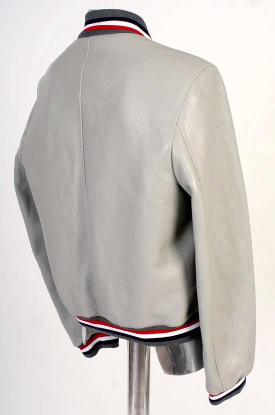 Thom Browne Thom Brown Deerskin Leather Varsity Jacket Grey Size 3 EU50 Medium RRP $3325 Size US M / EU 48-50 / 2 - 11