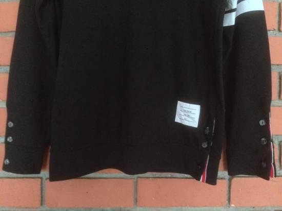 Thom Browne Nice Item !! Black Thom Browne With Stripe Sweatshirt Size US M / EU 48-50 / 2 - 3