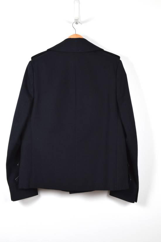 Balmain Cotton Gabardine Nappa Pea Coat Size US L / EU 52-54 / 3 - 2