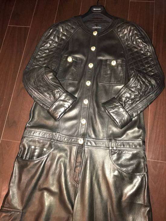 Balmain Balmain Spring 2014 Leather Jumpsuit Size US XL / EU 56 / 4 - 7