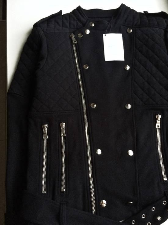 Balmain Balmain Black Quilted Biker Jacket Size US M / EU 48-50 / 2 - 3