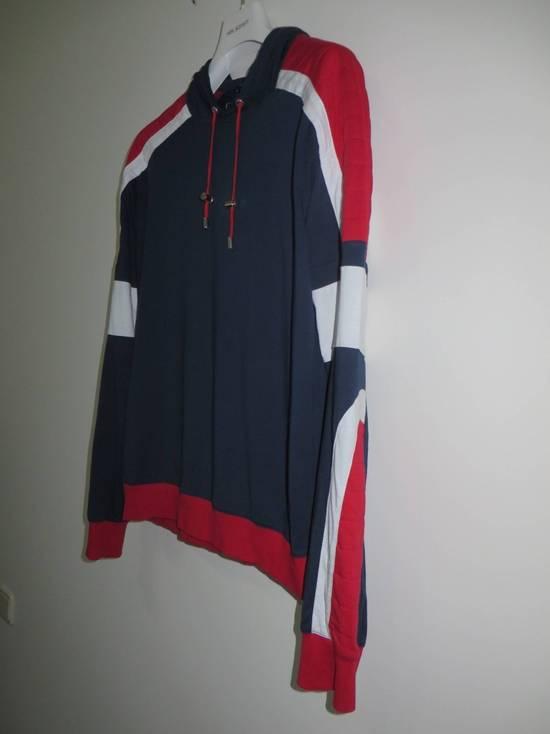 Balmain Panelled cotton biker hoodie Size US XS / EU 42 / 0 - 1