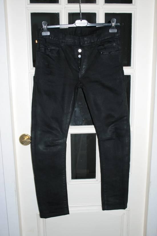 Balmain SS12 Black Waxed Jeans Size US 30 / EU 46 - 1