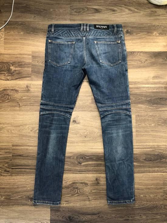 Balmain Geometric Biker Jeans Size US 31 - 1
