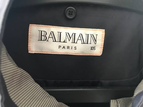 Balmain Vintage Balmain Silk Light Jacket color navy Big logo Authentic Size US XL / EU 56 / 4 - 2