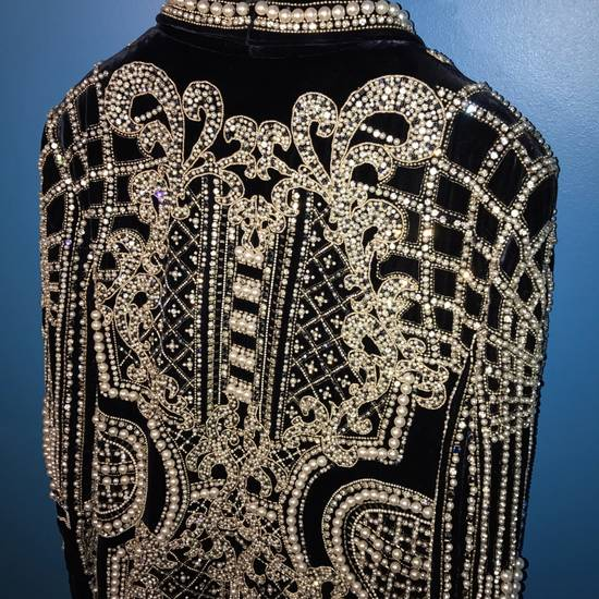 Balmain Balmain Fall 2012 Swarovski Crystal & Pearl Fabergé Tuxedo Size US XXL / EU 58 / 5 - 11