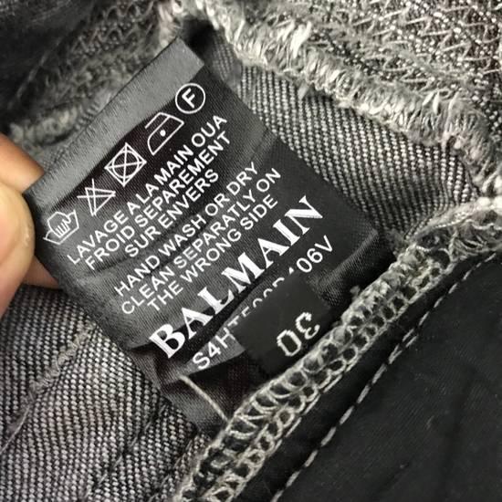 Balmain Rare! Distressed Balmain Biker Denim Jean Trouser Skinny Luxury Designer Size US 32 / EU 48 - 9