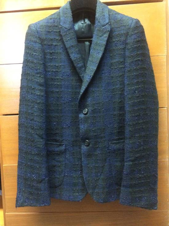 Givenchy FW09 Black Blue Wool Couture Blazer Sz 44 Size 34R - 5