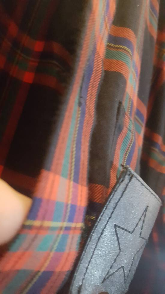 Givenchy Plaid Woven shirt with leather trim Size US M / EU 48-50 / 2 - 4