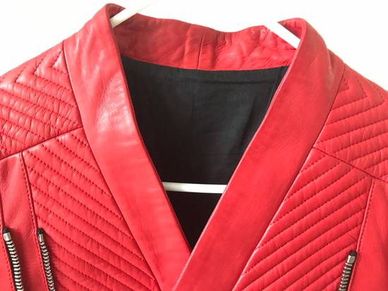 Balmain Nappa Leather Biker Jacket Size US M / EU 48-50 / 2 - 6