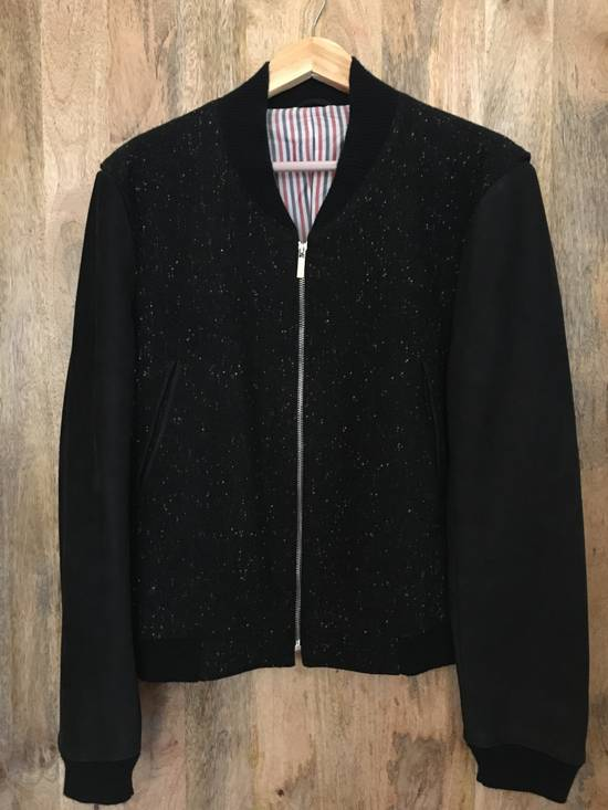Thom Browne Black Wool/Rayon & Leather Jacket Size US M / EU 48-50 / 2