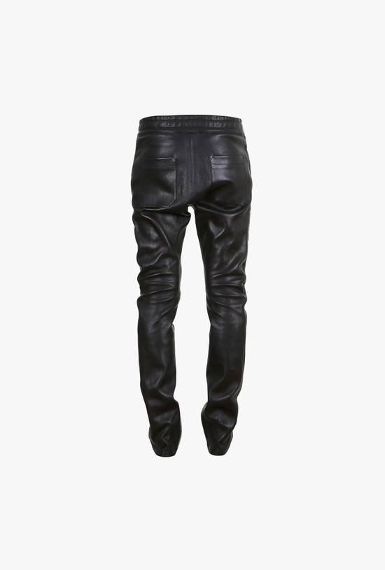 Balmain LAST DROP! Size M Fits S - Slim Fit Leather Ribbed Biker Style Sweatpants - $3100 Retail Size US 30 / EU 46 - 15