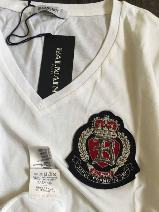 Balmain Balmain White V neck shirt Size US S / EU 44-46 / 1 - 5