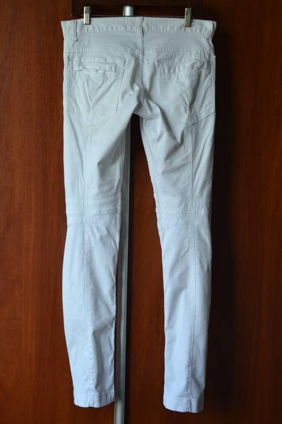 Balmain white biker pant Size US 32 / EU 48 - 2