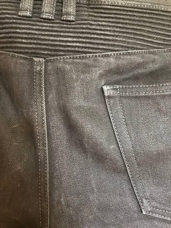 Balmain Black Biker Balmain Jeans Grey/Charcoal Washed Denim Size US 32 / EU 48 - 3