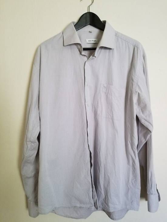Balmain Last Drop! Vintage Balmain Paris Button Up Down Dress Shirt Size US XL / EU 56 / 4