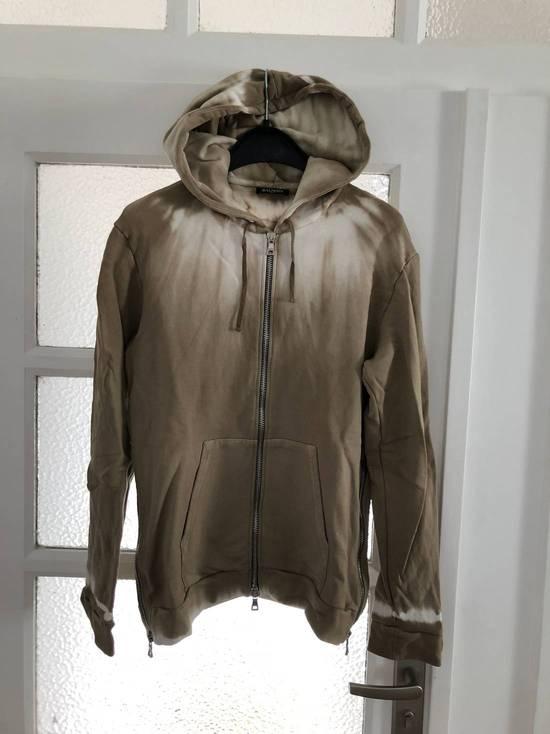 Balmain Balmain Creme/Sand Tie-Dye Zip Up Hoodie Size US L / EU 52-54 / 3
