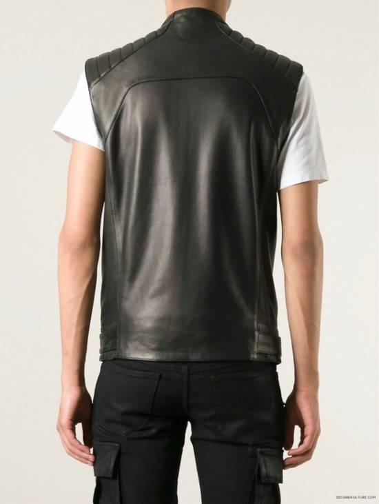 Balmain Leather Sleeveless Biker Jacket Size US M / EU 48-50 / 2 - 8