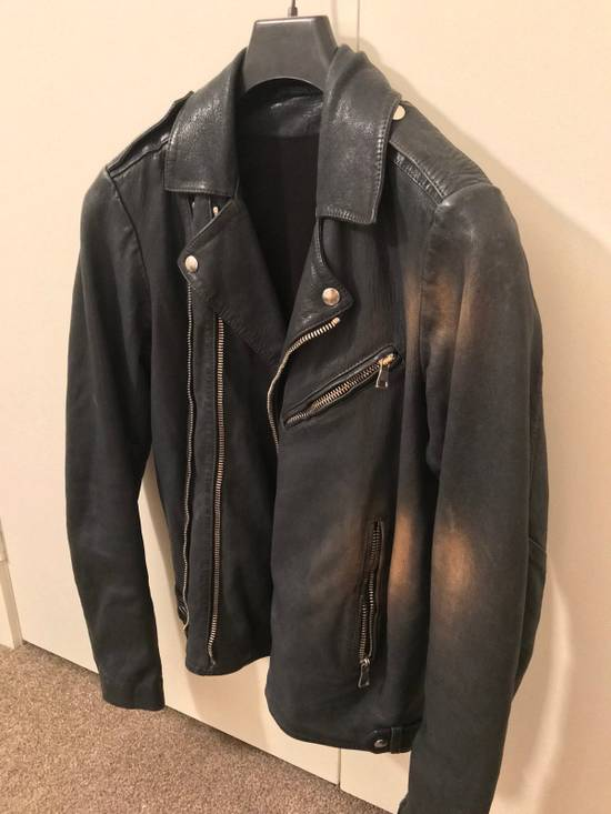 Balmain Navy Balmain Leather Jacket Size US S / EU 44-46 / 1 - 1