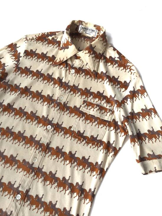 Givenchy Made in France 80's Overprinted Horse Stretched Slim Fit Button Up Shipping Size US S / EU 44-46 / 1
