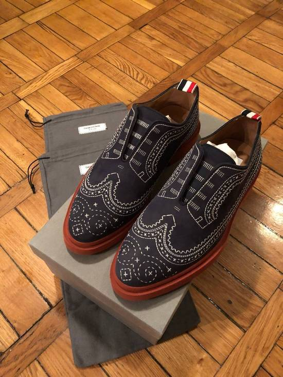 Thom Browne Stitched Nubuck Laceless Balmorals Size US 7 / EU 40