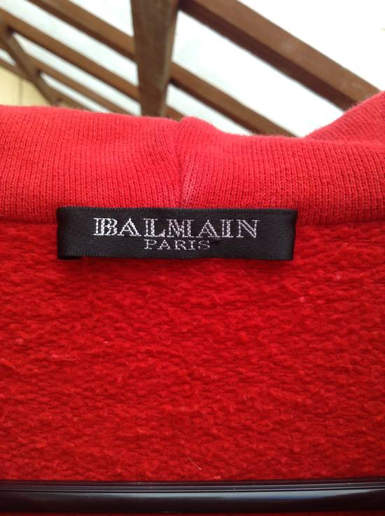 Balmain Red Crest Side Zip Hoodie Size US XL / EU 56 / 4 - 3