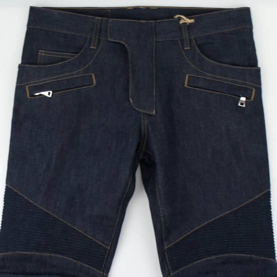 Balmain Blue Denim 'Biker Brut' Slim Fit Jeans Pants Size US 32 / EU 48 - 2