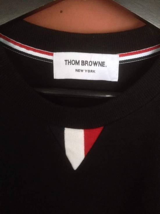 Thom Browne Nice Item !! Black Thom Browne With Stripe Sweatshirt Size US M / EU 48-50 / 2 - 7