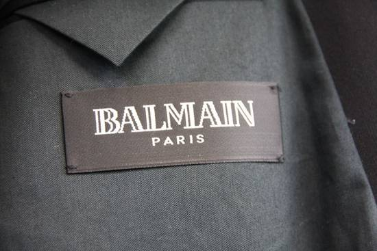 Balmain $2500 Balmain Slim Black One Button Wool Blazer Jacket Blouson Sz 50 48 M Medium Size 40R - 8