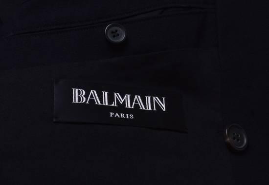 Balmain Cotton Gabardine Nappa Pea Coat Size US L / EU 52-54 / 3 - 8