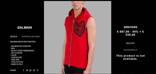 Balmain Sleeveless hoodie with Badge Size US M / EU 48-50 / 2