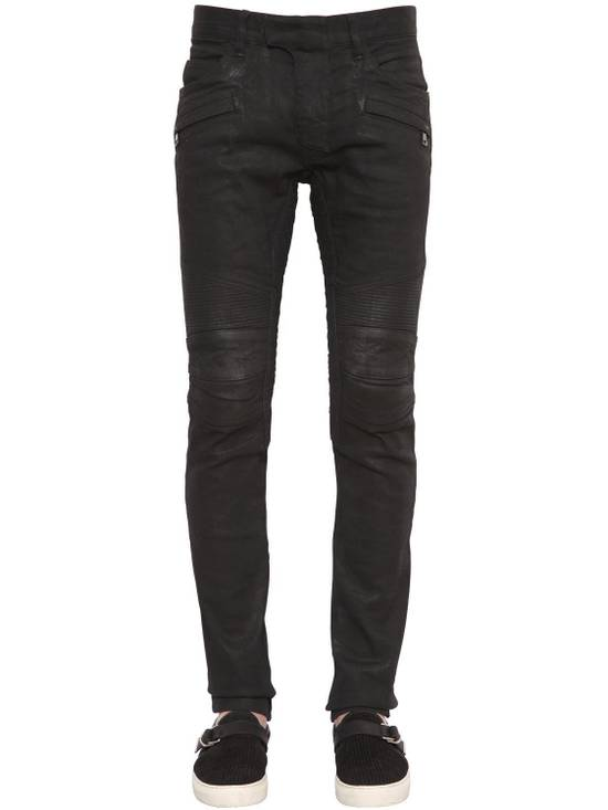 Balmain Balmain Black Denim Coated Authentic Biker $1230 Jeans Size 31 Brand New Size US 31 - 8