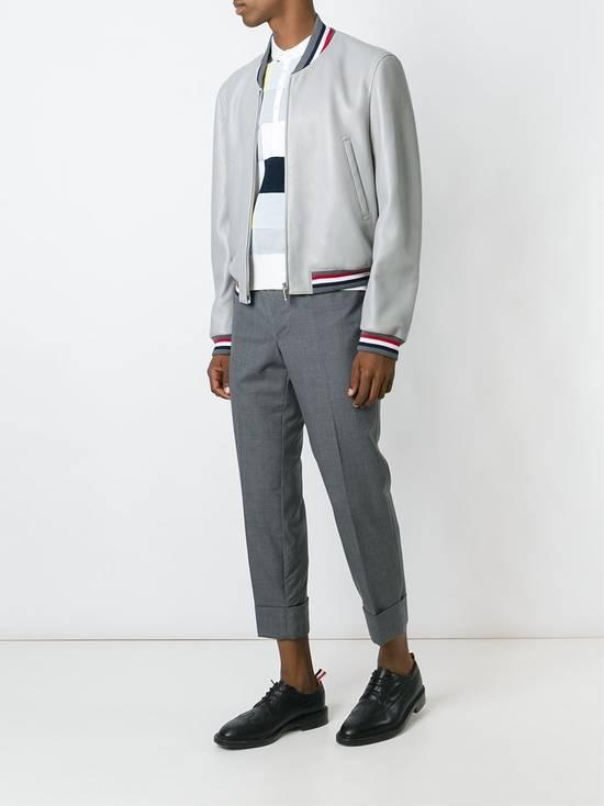 Thom Browne Thom Brown Deerskin Leather Varsity Jacket Grey Size 3 EU50 Medium RRP $3325 Size US M / EU 48-50 / 2