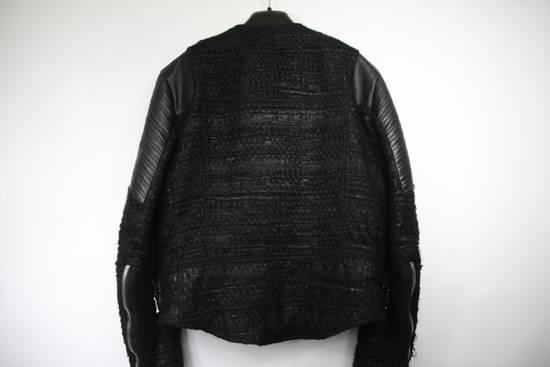 Givenchy $8k AW13 Givenchy Black Tweed & Leather Biker Jacket Size 48 Size US M / EU 48-50 / 2 - 14