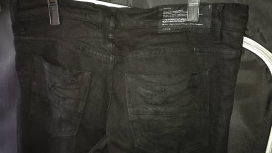 Julius 2010SS Distress Destroyed Coated Denim Slim Biker Jeans Size US 34 / EU 50 - 6