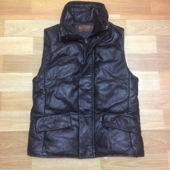 Balmain Balmain Leather Puffer Vest Size US S / EU 44-46 / 1