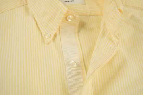 Thom Browne White Grossgrain, Yellow Stripe Oxford Size US L / EU 52-54 / 3 - 3